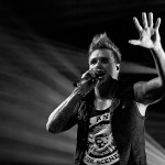 Jacoby Shaddix from Papa Roach during the their live performance at the ZMF music festival in Freiburg, Germany on June 30, 2013.