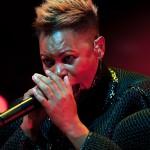 Skin (Deborah Anne Dyer) from Skunk Anansie live at Stimmen music festival in Lˆrrach, Germany, July 18, 2013.