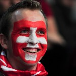 Swiss fans watch a FIFA World Cup 2014 game between Switzerland and France at the largest public viewing spot in the country, inside the AFG Arena in Sankt Gallen, Switzerland. France wins 2:5 and goes on top of Group E on June 20.