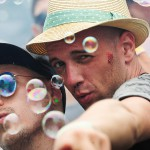 Techno fans at the Sea You festival near Freiburg. 20th July, 2014.