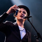 Lörrach, Germany. 25th July, 2014. Peter Doherty (Vocals/ Guitar) from English rock band Babyshambles with a glas of beer during their concert at Stimmen (Voices) music festival in Lörrach, Germany.