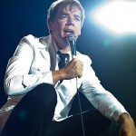 Lörrach, Germany.  26th July, 2014. Per Almqvist (vocals) also known as Howlin' Pelle Almqvist from Swedish garage rock band The Hives performs live at Stimmen (Voices) music festival in Lörrach, Germany.