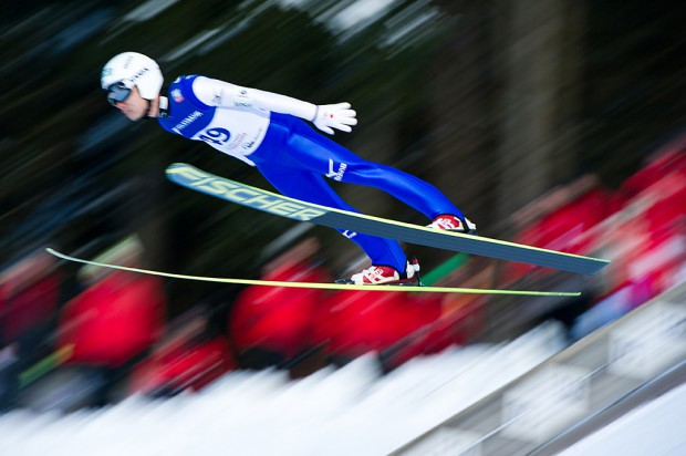 Daiki Ito (JPN) competes in the Large Hill Individual competition on day one of the FIS Ski Jumping World Cup on February 7, 2015 in Titisee, Germany.