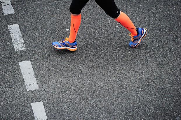 Runner's legs.