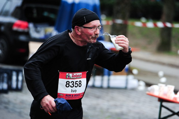 Drinking water while running requires abilities like this.